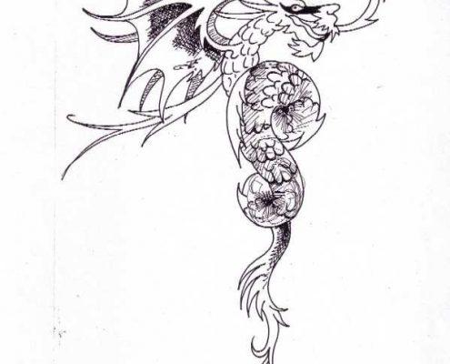 tekening Draak