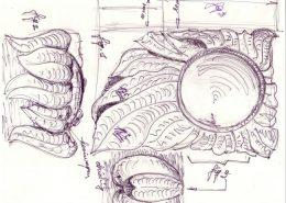 tekening grafmonument